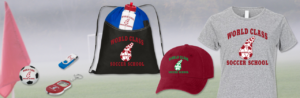Image of Promotional Items and Gear - Hats, Backpacks, Thumbdrives, Water Bottles, T-Shirts, Stress Balls - World Class Soccer School - Pennsylvania
